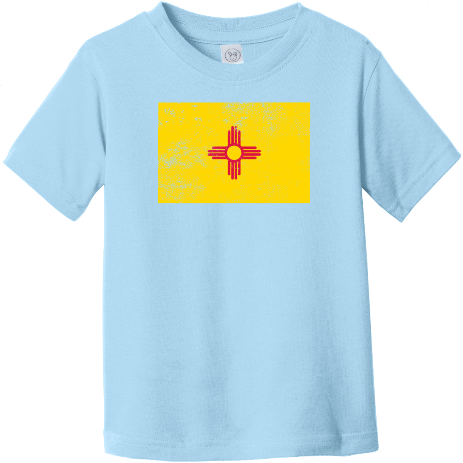 New Mexico Vintage Toddler T-Shirt Light Blue Rabbit Skins Toddler Fine Jersey Tee RS3321