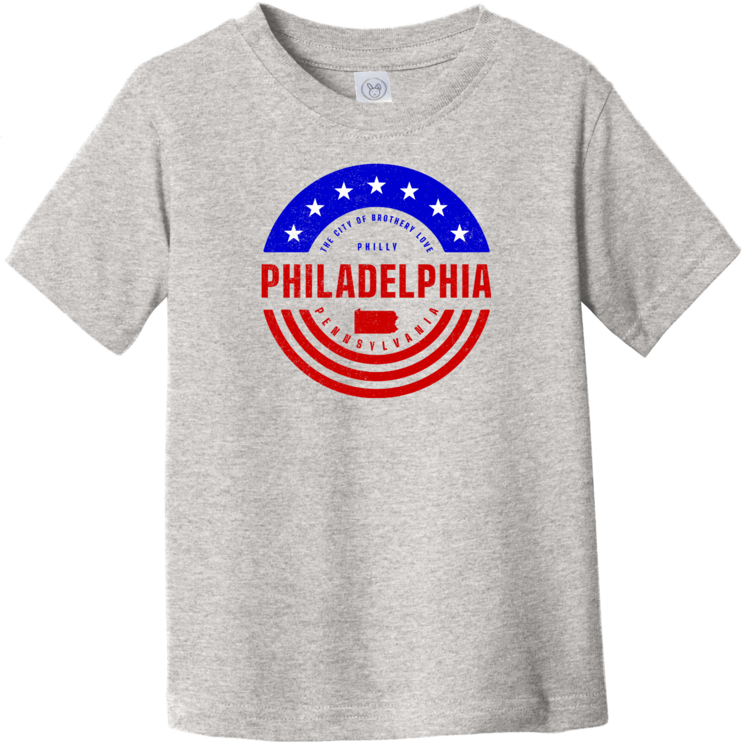 Philadelphia Pennsylvania Patriotic Toddler T-Shirt Heather Rabbit Skins Toddler Fine Jersey Tee RS3321