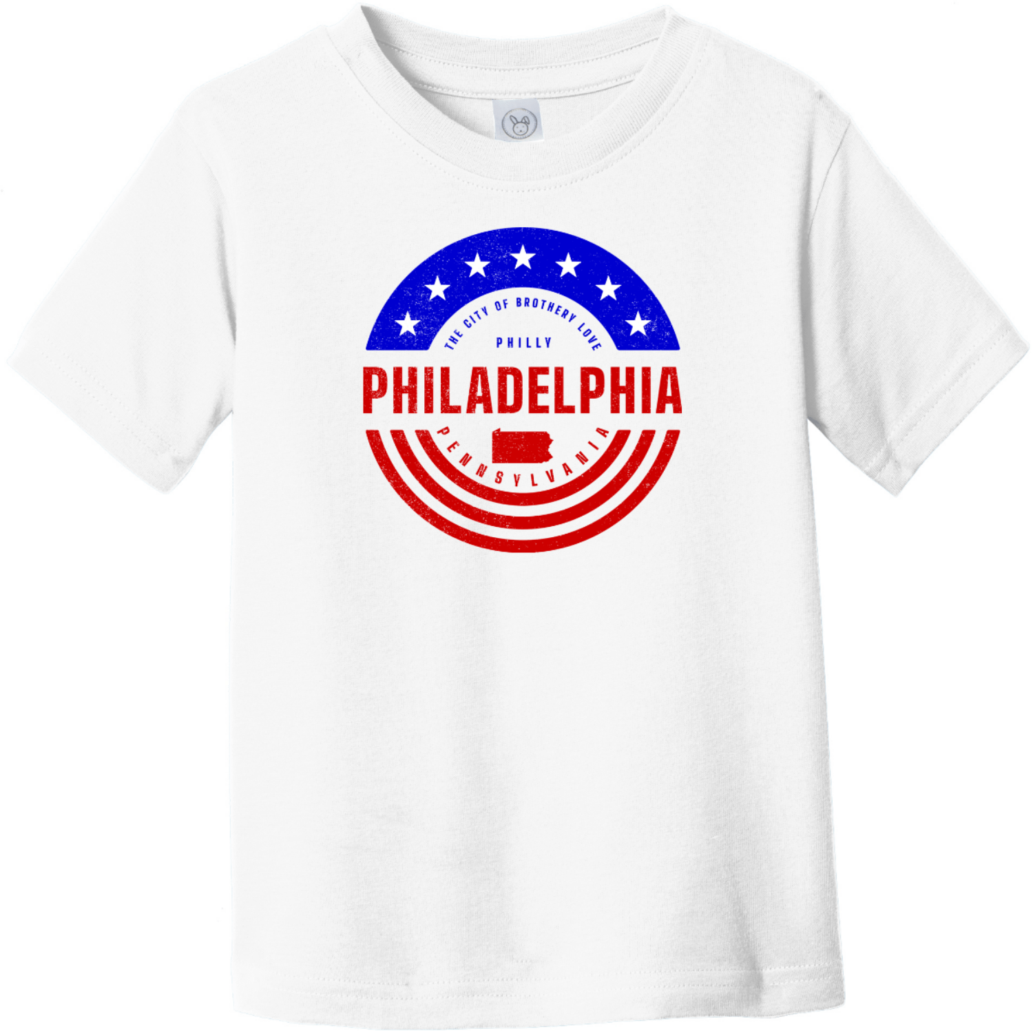 Philadelphia Pennsylvania Patriotic Toddler T-Shirt White Rabbit Skins Toddler Fine Jersey Tee RS3321