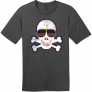 American Flag Sunglasses Retro Skull T-Shirt