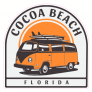 Cocoa Beach Florida Surf Van Sticker
