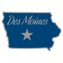 Des Moines Iowa State Shaped Sticker