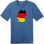 Germany Flag Country Shape T-Shirt