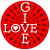 Give Love Abstract Circle Sticker