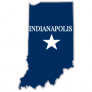 Indianapolis Indiana State Shaped Sticker