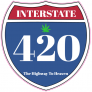 Interstate 420 Road Sign Sticker