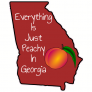 Just Peachy In Georgia Sticker
