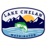 Lake Chelan Washington Fishing Sticker