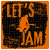 Lets Jam Guitar Player Sticker