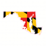 Maryland Flag State Shaped Sticker