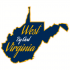 West By God Virginia State Shaped Sticker