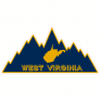 West Virginia Mountain Shaped Sticker